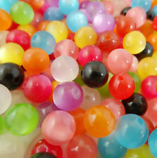 Free Ship 50Pcs Mixed cat's eye Acrylic Spacer Beads Fit Bracelet Jewelry 8mm
