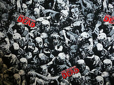 The Walking Dead Fabric Fat Quarter Cotton Craft Quilting - Horror