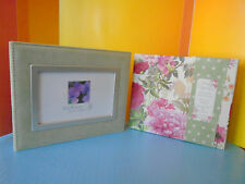 2 MEMORY KEEPERS: GREEN SUEDE PHOTO BOX, FRAME COVER & WEEKLY ORGANIZER, FLORAL