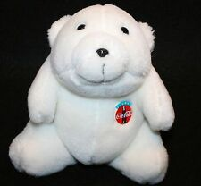 Vintage Coca Cola Plush Bear 7.5 inches tall Stuffed Animal Collectible