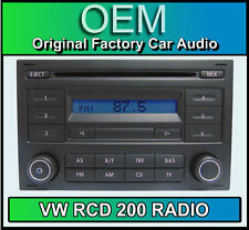 VW RCD 200 CD player Polo car stereo head unit Supplied with radio code