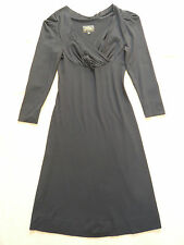 Vivienne Westwood Anglomania NEW black V neck dress w 3/4 sleeves Size XS = 6