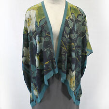 NEW NWT Cocoon House Wild Roses 100% Silk Kimono Blouse Large/XL (fits 1X, 2X)