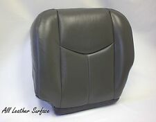 2003 2004 Chevy Avalanche Driver Bottom Leather Seat Cover Dark Gray
