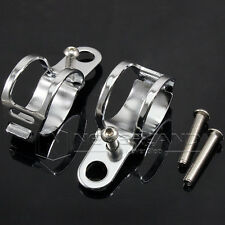 Chrome  Motorbike Headlight Mount Bracket 35mm 39mm Fork Tube Clamps for Harley