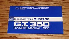 1965 Ford Shelby Mustang GT 350 Owners Operators Manual 65