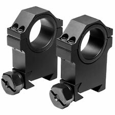"NcSTAR 30mm x 1.5""H Tactical Hunting Rifle Scope Optic Rail Mount Rings RB24"
