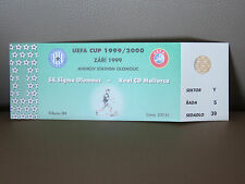 TICKET : SIGMA OLOMOUC - REAL CD MALLORCA UEFA CUP 1999/2000