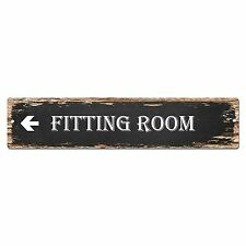 SP0122 Fitting Room Street Plate Sign Bar Store Cafe Kitchen Chic Decor