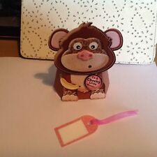 Handmade carte sur safari boîte-pop mischief le singe dit à un effronté
