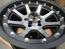 17x9, Flat Black Machined KMC XD798 XD Addict WHEELS RIMS 5x5 JEEP Wrangler JK