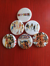 "1.25"" Spice Girls pin back button set of 6"