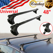 "Universal 48"" Top Luggage Cargo Cross Bars Roof Rack Carrier Snowboard AUTO Car"