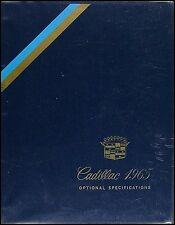 1965 Cadillac ORIGINAL Optional Specifications Dealer Album Book Accessories