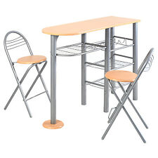 Pub Dining Set Counter Height 3 PCS Table and Chairs Set Breakfast Kitchen NEW