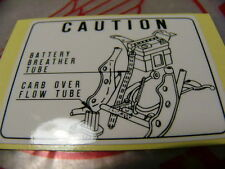 Honda CB 750 Four K2 - K6 Mark Battery Caution