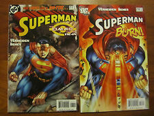 SUPERMAN 217, 218 OMAC Project Tie-In Mark Verheiden, Ed Benes Art NM+