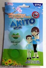 Anti Mosquito Patch Repellent Natural Extract Lemongrass Free Bug Insect No Deet