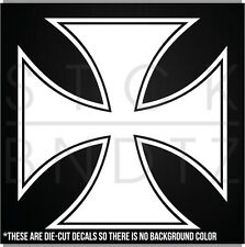 MALTESE CROSS HARLEY CHOPPER FUNNY DECAL STICKER MACBOOK CAR WINDOW MOTORCYCLE