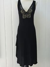 NEW BLUMARINE Black Lace Butterfly Dress I 40 US 4