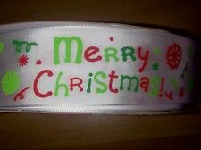 Merry Christmas Ribbon Cakes Bows wreath decorationscake wrapping 1m - 3 for 2!
