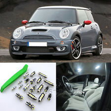 Super White 18pcs Interior LED Light Kit for 2006 Mini Cooper R53 + Free Tool