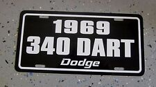 1969 Dodge DART 340 license plate tag 69 High Performance Muscle Car