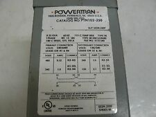 POWERTRAN PTN102-250 TRANSFORMER ISOLATION 250V 60HZ 1PH SE2N.250F