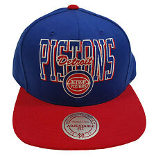 MITCHELL & NESS DETROIT PISTONS MULTI TEAM COLORS BLUE/RED SNAPBACK CAP