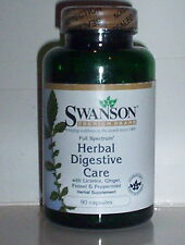 HERBAL DIGESTIVE CARE W/ LICORICE GINGER FENNEL PEPPERMINT SUPPLEMENT 90 CAPS