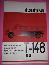 Original Prospekt Sales Brochure Tatra T- 148 S3 Technische Daten in Russisch