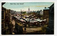 (Gm235-176) Tram in Market Place, GREAT YARMOUTH 1907, Used VG