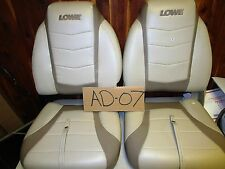 PAIR LOWE HIGH BACK FOLDING BOAT FISHING SEATS  (AD-07)