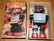 "VINTAGE SATURN 13"" TV SCREEN MISSILE FIRING SPACE ROBOT RETRO 1981 KAMCO WORKING"