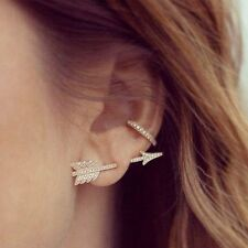 Fashion 1PC Bow Arrow Crystal Ear Stud Women's Earrings Jewelry Vogue