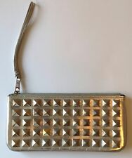 Marc by Marc Jacobs Black Patent Leather Gold Silver Studded Clutch Bag