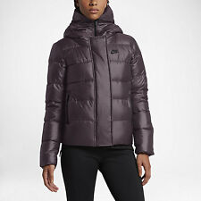 NEW NIKE SPORTSWEAR Womens Down Fill Purple Medium Winter Hooded Jacket 815723