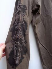brown long sleeve t shirt top CHRISTIAN LACROIX XL with arm detail