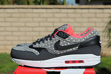 NIKE AIR MAX 1 LTR PREMIUM SZ 12 ANTHRACITE BLACK GRANITE POLKA DOT 705282 002