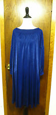 Prada Blue Smocked Neckline Cuff Shift Tunic Dress Sz XS/S Mod