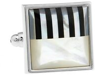Abalone Cufflinks Square Piano Wedding Gift Box Free Ship USA