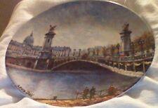 collector plates, D'Arceau Limoges, Louis Dali, Les sites Parisiens, Le Ponte Al
