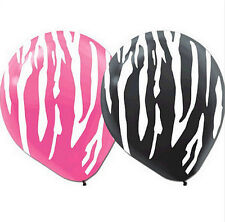 Designer Pink and Black Zebra Pattern12 inch Latex Balloons (20 pack) - 115495