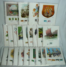 UNITED KINGDOM STAMP COLLECTION 1ST-DAY-ISSUE 22-PAGES HISTORICAL PLASTIC-COVERS
