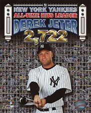 DEREK JETER ~ 8x10 Color Photo Picture ~ All Time Hits Leader ~ 2,722 Posing