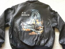 Vtg NWT RARE Avirex WWII P-51 Mustang Leather Flight Jacket Bomber lambskin XL