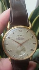 VINTAGE CAUNY PRIMA SWISS WATCH WW2 1940 MEN,ANTIGUO RELOJ CAUNY