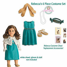American Girl REBECCA COSTUME CHEST 6 PC SET for Dolls Wings Shawl Pearls NEW