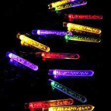 20x Icicle RainDrop Multi-color LED Solar Power Hanging Garden String Lights