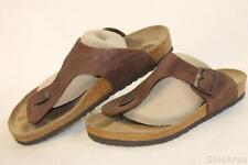 Birkenstock Germany Made Mens 11 44 Gizeh Leather Sandals Slides Shoes z